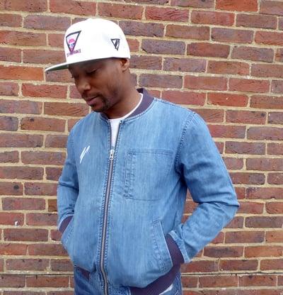Image of Denim Zip Up Jacket