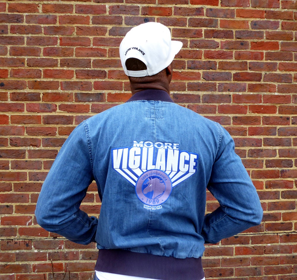 Image of Denim Zip Up Jacket