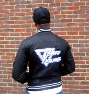 Leather Varsity Jacket - Moore Vigilance