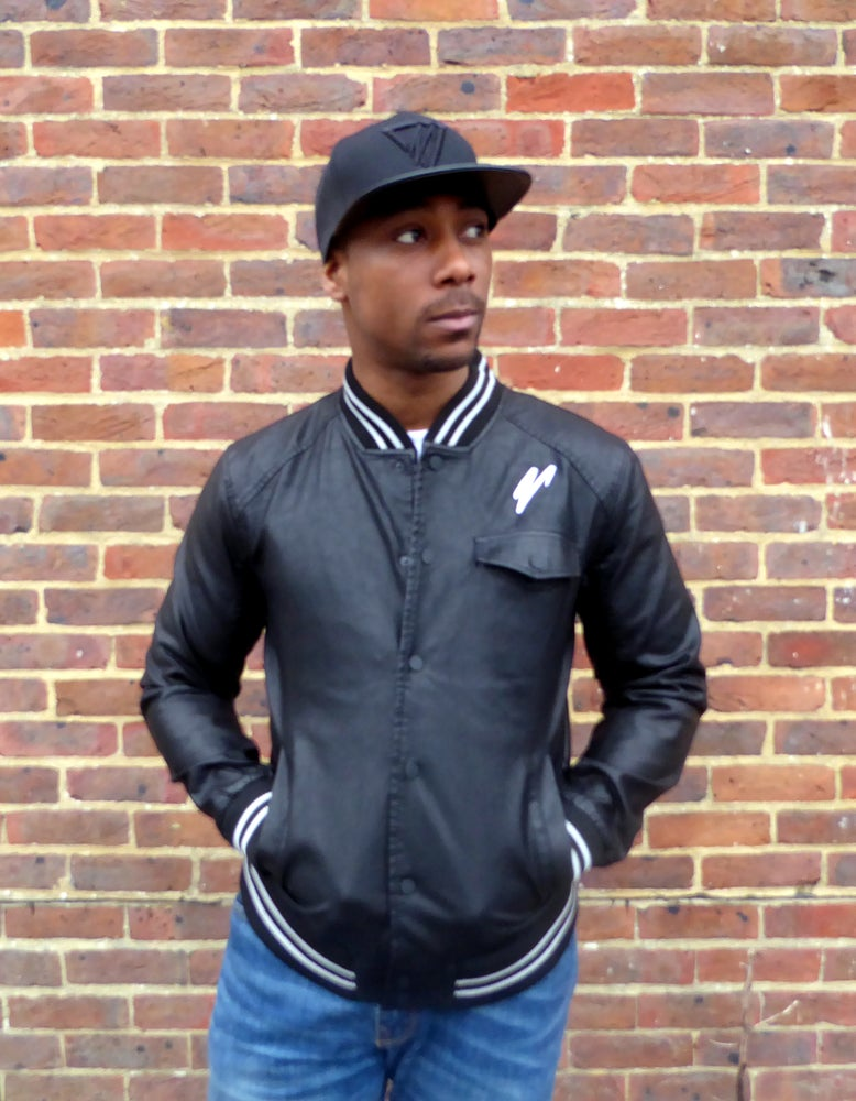 Image of Leather Varsity Jacket