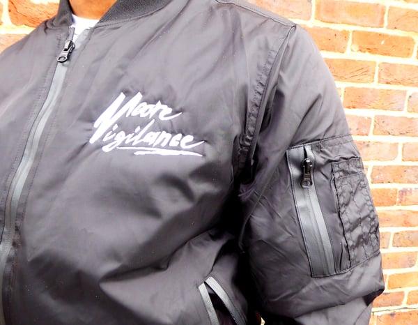 Black Bomber Jacket - Moore Vigilance