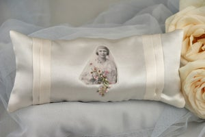Image of Silk Boudoir Lavender Cushion: Bride