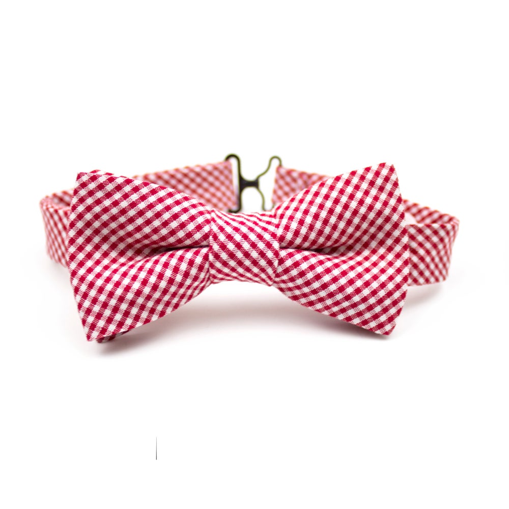 Image of Cherry Gingham Kids Bow Tie