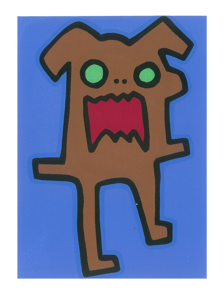 "Image of ""Screaming Dog"" (Silkscreen Print)"
