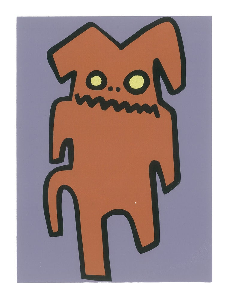 "Image of ""Indifferent Hyena"" (Silkscreen Print)"