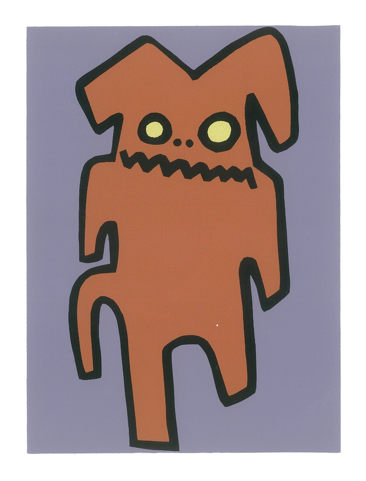"Image of ""Indifferent Hyena"" (Silkscreen Print)"