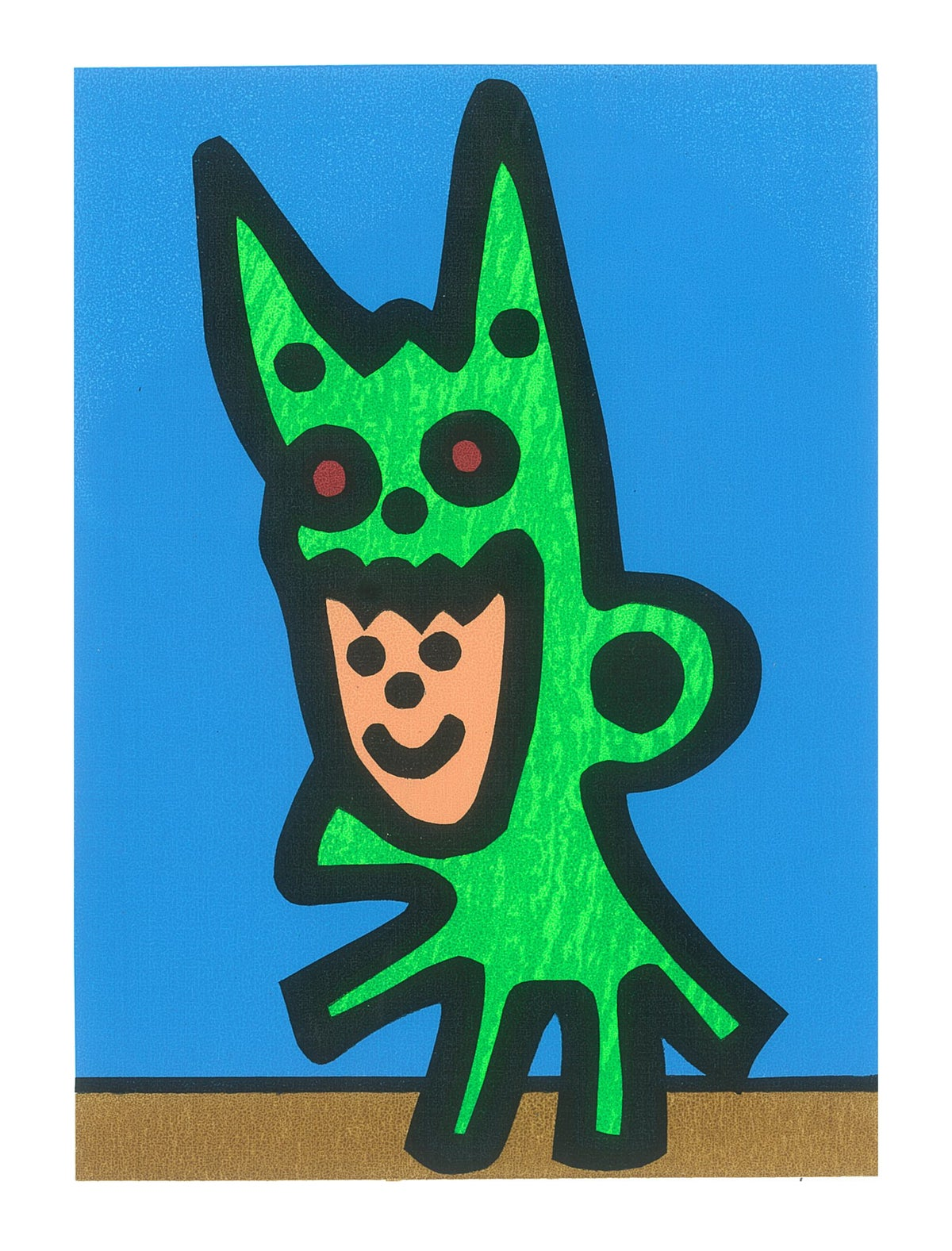 "Image of ""Boy Dragon"" (Silkscreen Print)"