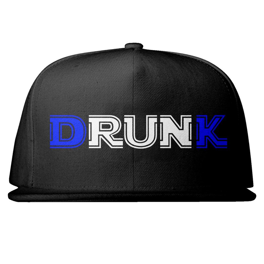 Image of Embroidered Drunk Snap back D&K Royal Blue