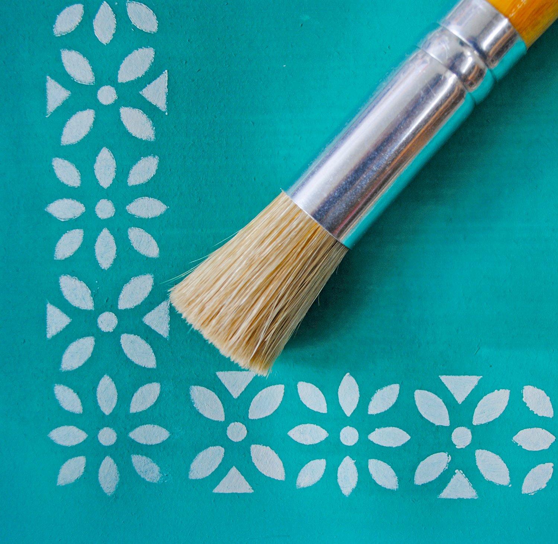 stencil brush    nicolette tabram stencils