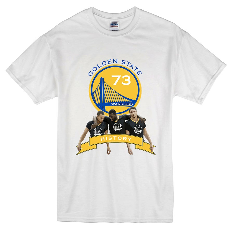 "Image of ""Teamwork"" Golden State Warriors 73-9 t-shirt"