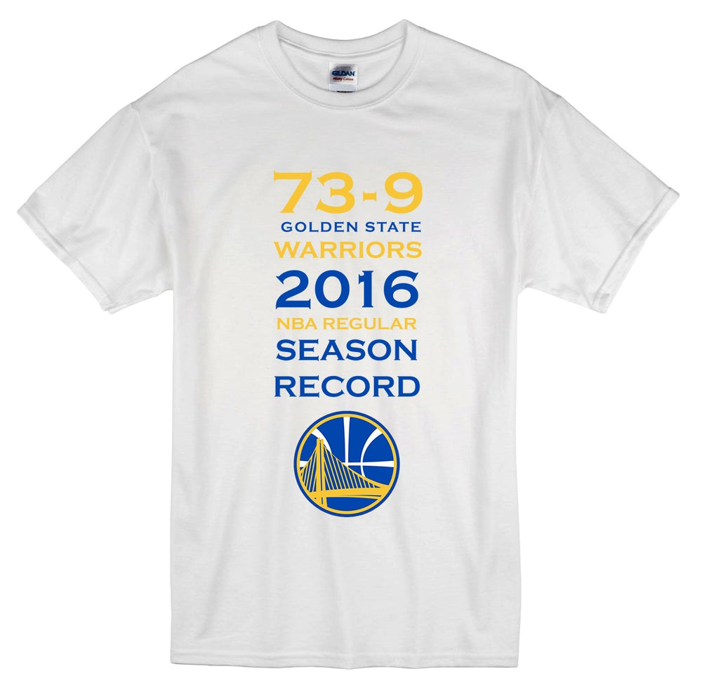 "Image of ""The Record"" Golden State Warriors 73-9 t-shirt"