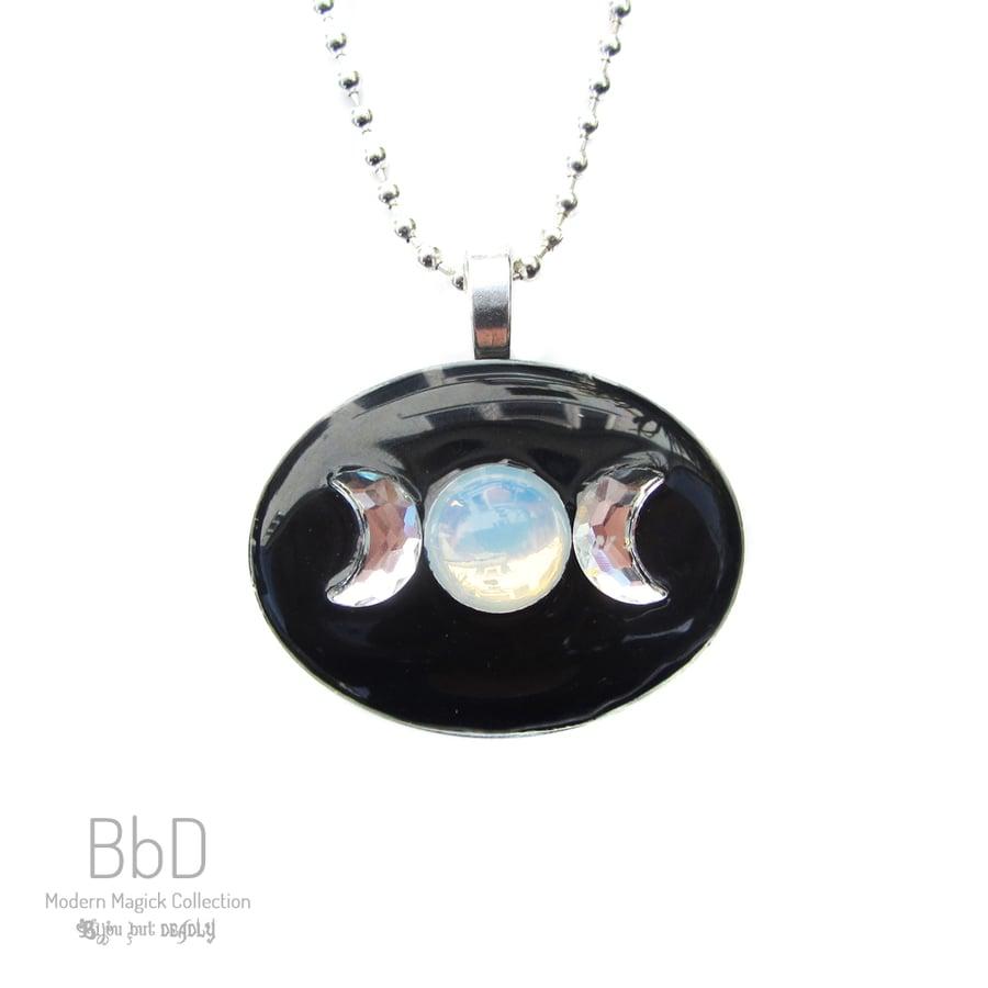 Image of Triple Moon Goddess Resin Pendant