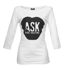 Image of ASK MORE QUESTIONS - Sleeve Shirt weiss