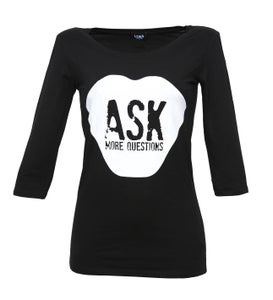 Image of ASK MORE QUESTIONS - Sleeve Shirt schwarz