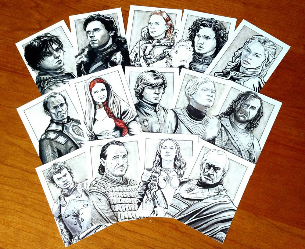 Image of Game of Thrones Art Card Set