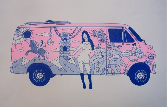 Image of 'JUDGMENT HIGHWAY' RISOGRAPH PRINT