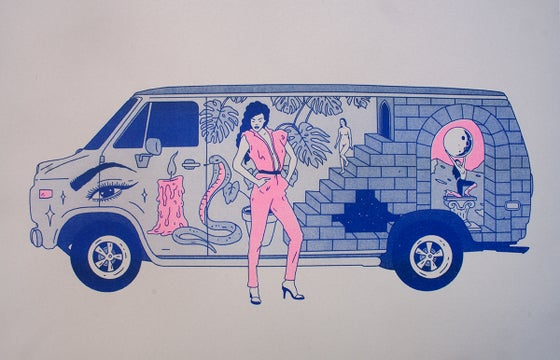 Image of 'INFINITY ROAD' RISOGRAPH PRINT