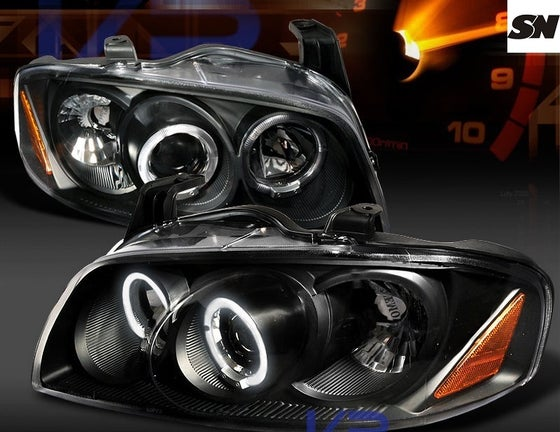 Image of (B15) 04-06 SENTRA BLACK CCFL HALO STYLED HEADLIGHTS