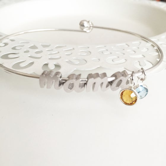 Image of Birthstone mama bangle