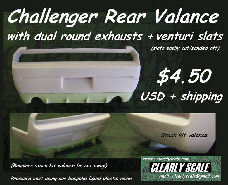 Image of Challenger Rear Valance, Dual Round Exhaust