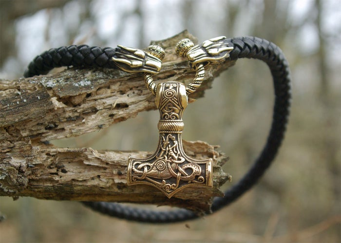 MJOLNIR - Leather Choker / WOLF