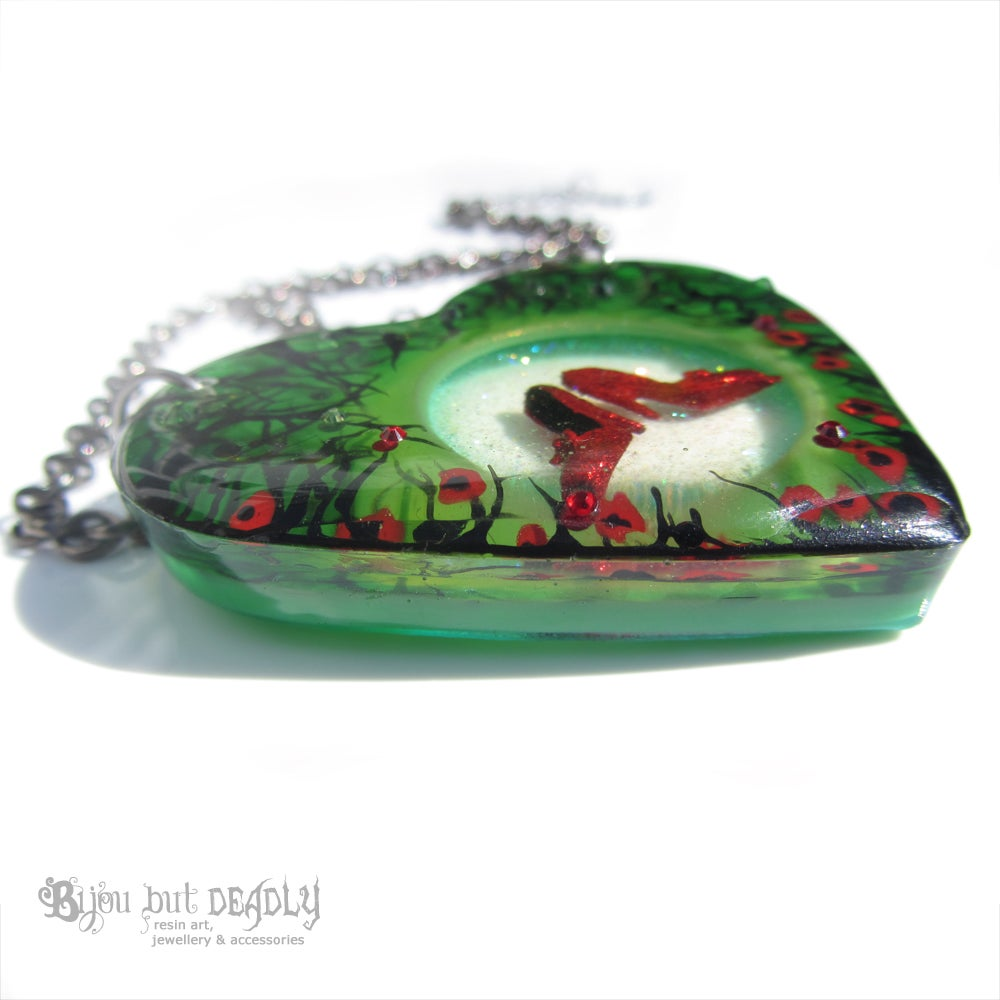 Ruby Slippers Diorama Resin Pendant