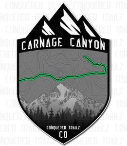 "Image of ""Carnage Canyon"" Trail Badge"