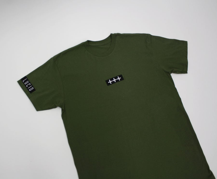 Image of LUCID777 x PLUSBANDS +++ TEE - BLACK / WHITE / GREEN