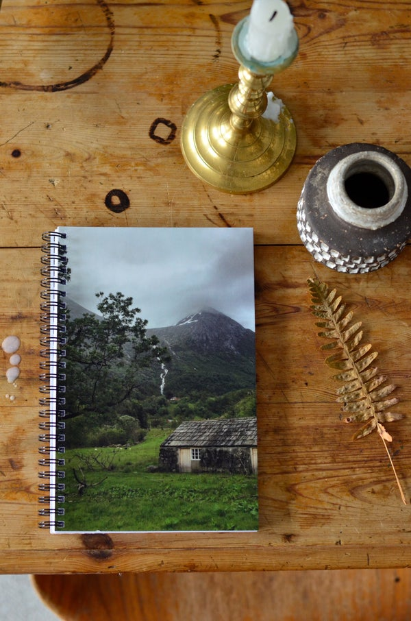 Image of Notebook, Stonehouse. A4 glossy frnt- matt pages, blank pages