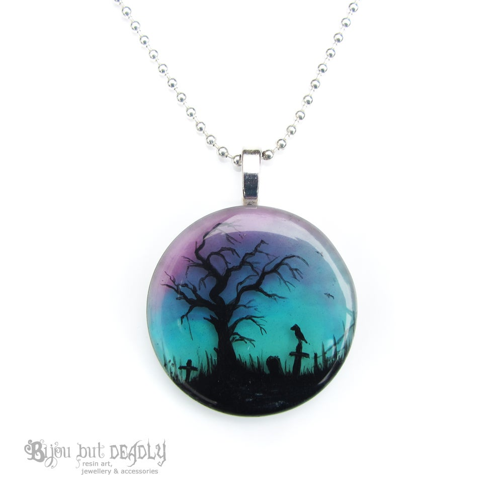 Image of Twilight Resin Round Pendant