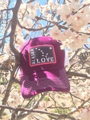 Image of Alaska Love Trucker Hat- Velvet/White
