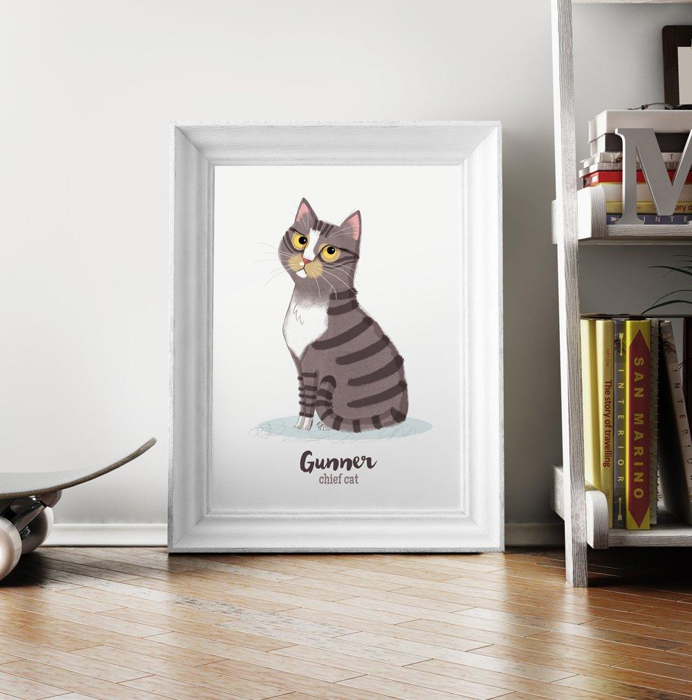 d7051ff22f7e Land of Doodle — Custom Cat Portrait - digital download