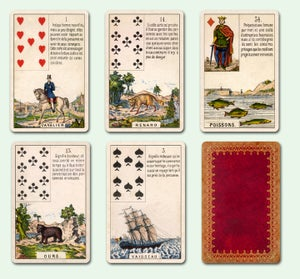Image of Caitlín Matthews' Daveluy Lenormand Deck c.1860