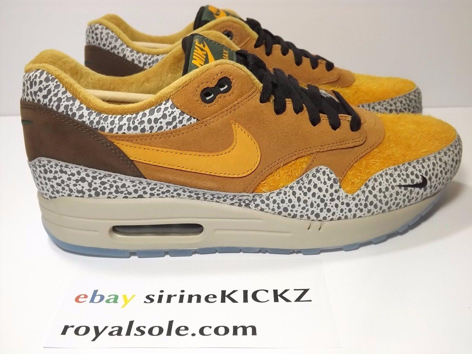 8d439068e72a ... uk image of nike air max 1 atmos safari premium qs flax kumquat  chestnut 665873 200