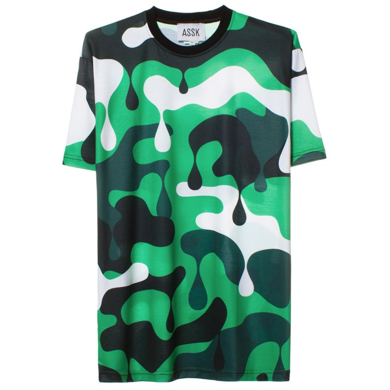 Image of NUCLEAR CAMO T-shirt - Green