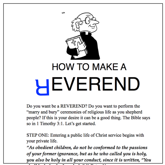 Image of How to Make a Reverend (pack of 15 booklets)