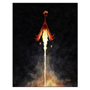 "Image of ""Rocky Rebirth"" Phoenix Print"