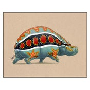 "Image of ""Polychromatic Hippo"" Print"