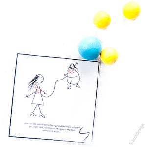 Image of Vennekort: Friends are like balloons