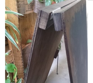 Worn-Out Medium Double-Sided Standing Chalkboard