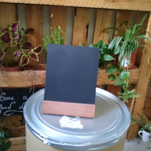 Image of Medium Slanting Chalkboard with Solid Wood Base