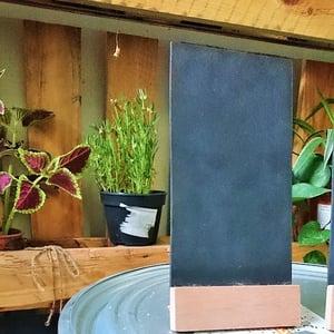 Medium Slanting Chalkboard with Solid Wood Base