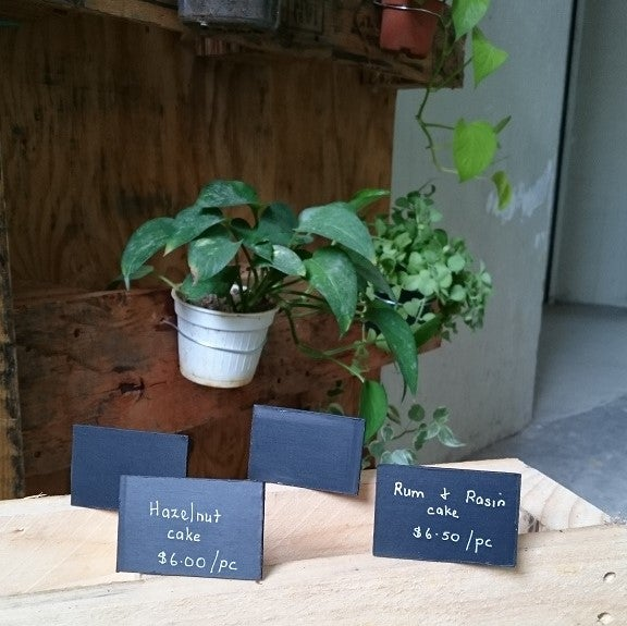 Image of Mini Slanting chalkboard - 4 per pkt (Use liquid chalk marker and regular chalk)
