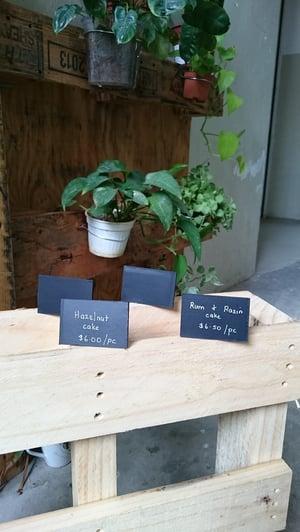 Mini Slanting chalkboard - 4 per pkt (Use liquid chalk marker and regular chalk)