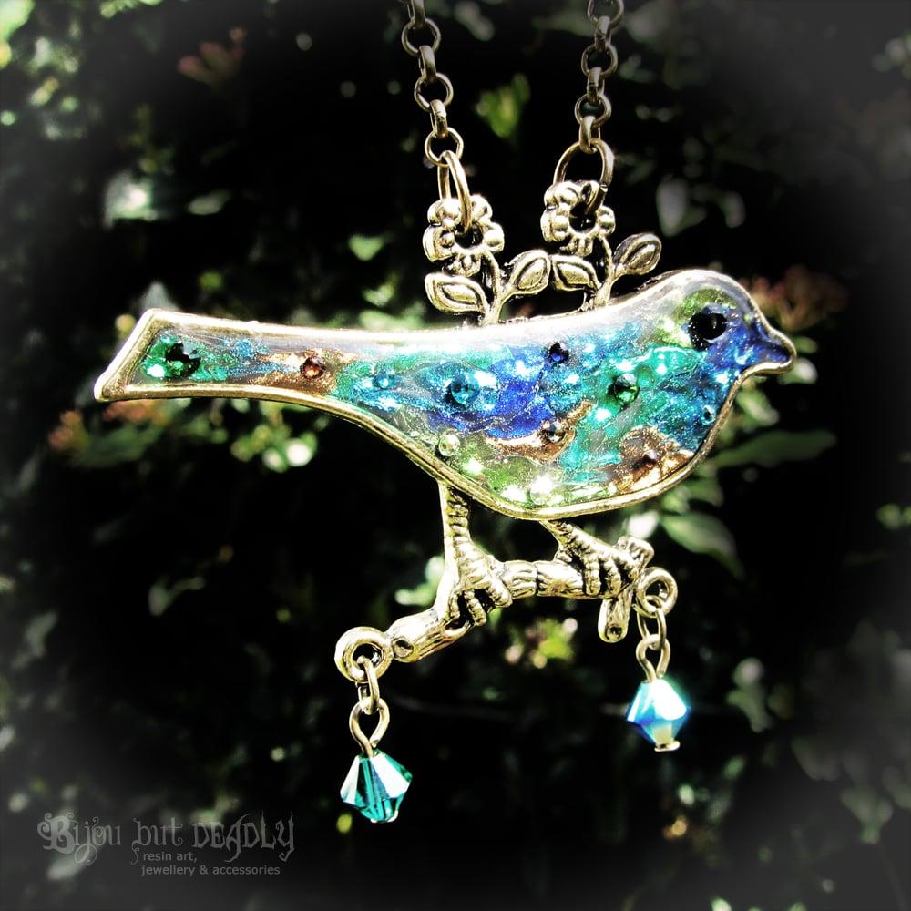 Image of Patchwork Bird Pendant