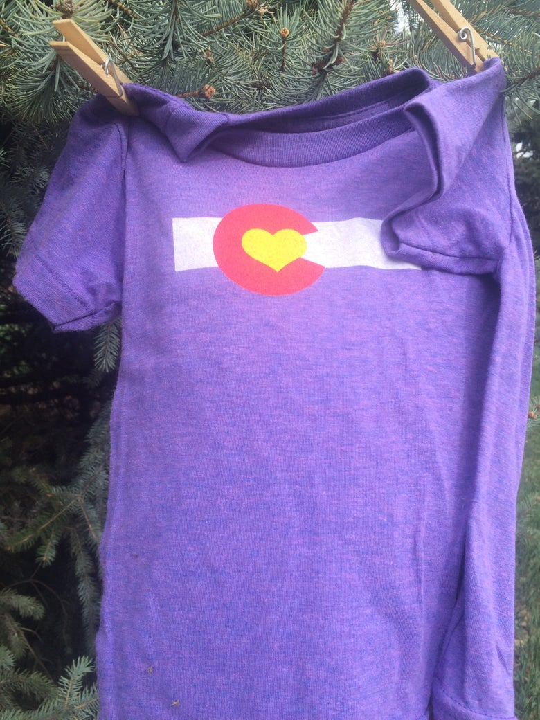 Image of Colorado Love Kid's Tee- Orchid