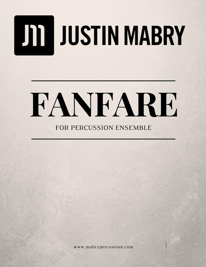 Fanfare for Percussion Ensemble (PDF version)