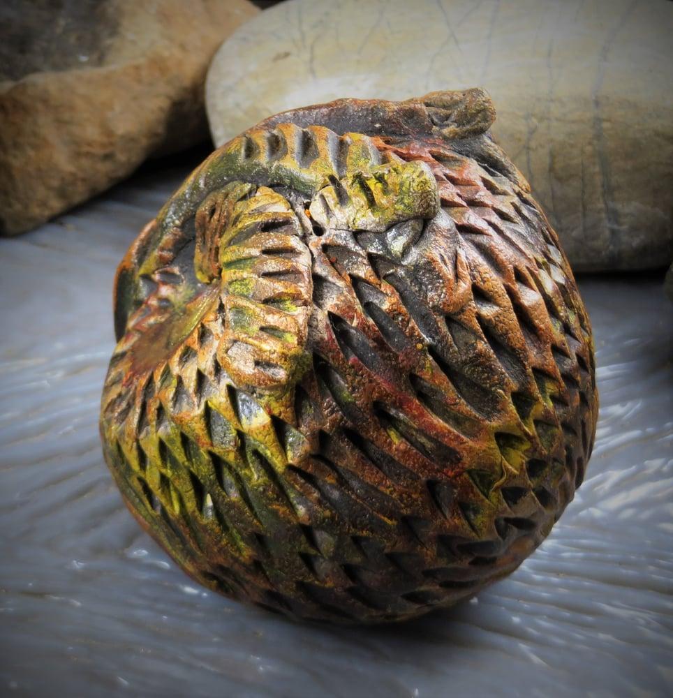 Image of Custom Owl-Totem Power Animal Rattle- Ceramic Sculpture
