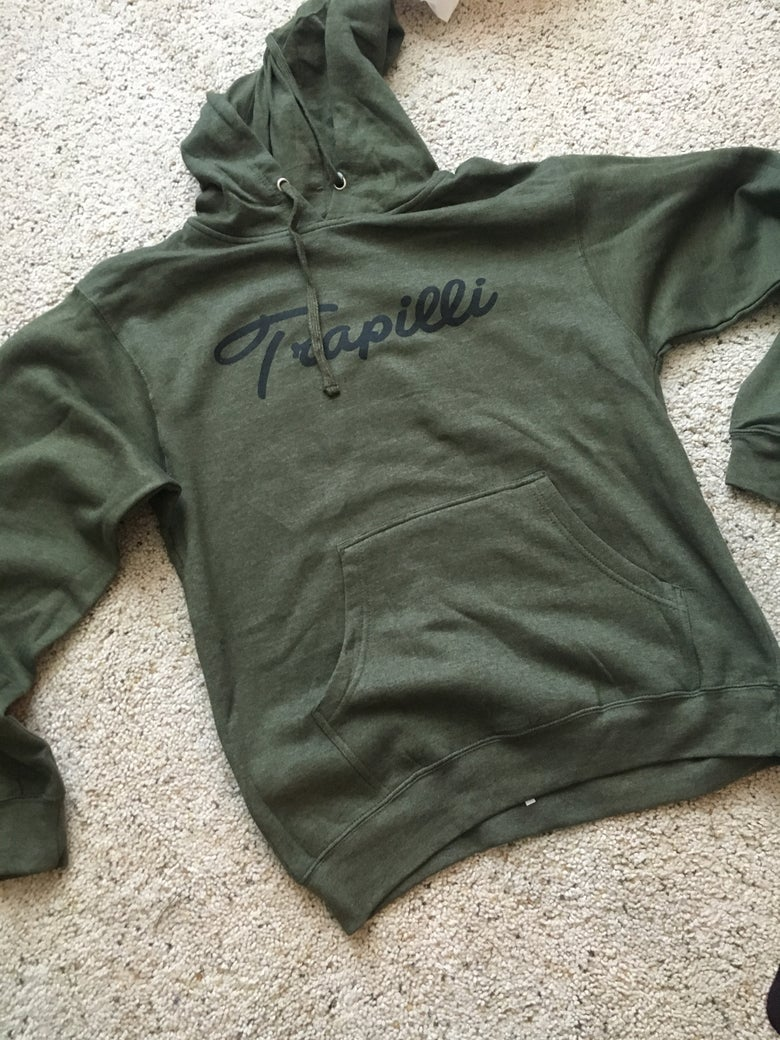 Image of *SOLD OUT* The Trapilli Signature Hoodie in Army Green