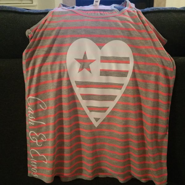Image of i got a big heart racerback tank
